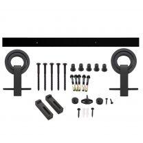 Intersteel schuifsysteem zwart met hangrollen Top openwiel 0023.450122