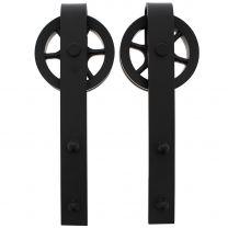 Intersteel Set van 2 hangrollen front spaakwiel 340 mm mat zwart 0023.450132