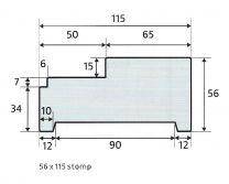 Skantrae kozijn 56 x 115 stomp hardhout (universeel)