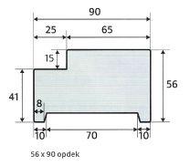 Skantrae kozijn 56 x 90 opdek hardhout (universeel)
