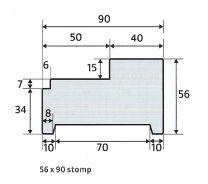 Skantrae kozijn 56 x 90 stomp hardhout (universeel)